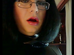 PVC Mistress jerking off