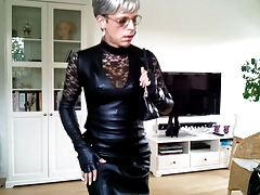 Sissy sexy leather dress 3