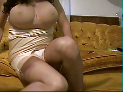 Striptease and  squirming frenzied panty cum with vibrators