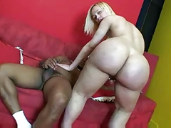 Blonde TS and Black Guy