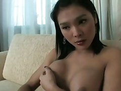 asian t-girl playing