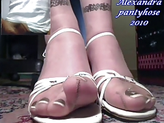 a old fan cum for my feet in direct cam