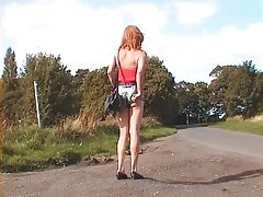 exhibitionist tranny whore flaunts for you