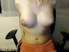 Busty Tgirl in Sensual Webcam Show
