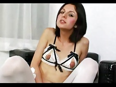 shemale gapes her ass after toying