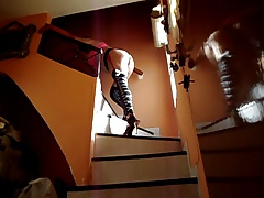 Bytel Pirate STOCKINGS in stairs