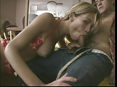 Gorgeous blond tranny ass fucked by stud at lush resort on table then showers