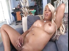 Oiled Hot Blonde Shemale Solo