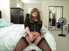 Gorgeous tranny whacks of a load
