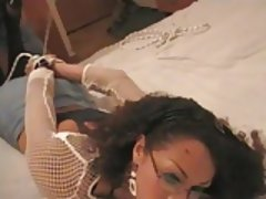 Tranny LOVES being Tied and Fucked